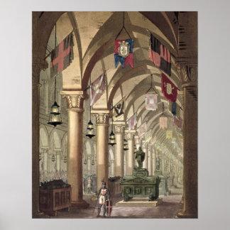 Tombs of the Knights Templar, c.1820-39 (aquatint) Poster