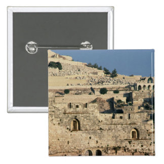 Tombs on the side of the Mount of Olives Pinback Button
