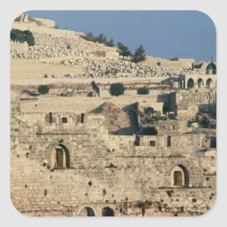 Tombs on the side of the Mount of Olives Square Sticker