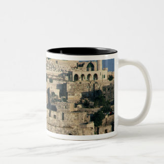 Tombs on the side of the Mount of Olives Two-Tone Coffee Mug