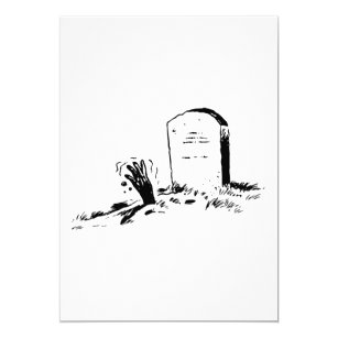 Tombstone invitations announcements zazzle tombstone and a hand invitations thecheapjerseys Choice Image