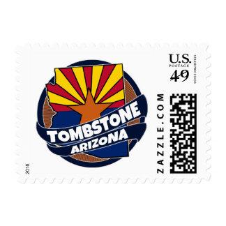 Tombstone Arizona flag burst postage stamps