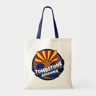 Tombstone Arizona flag burst tote bag