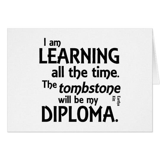 Tombstone Diploma Card