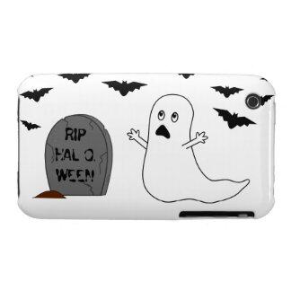 Tombstone, Ghost & Bats - Halloween iPhone 3 Cases