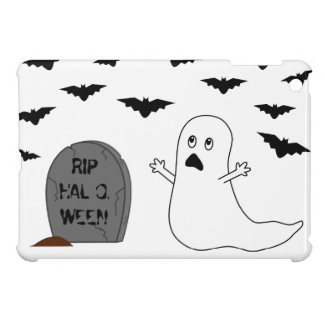 Tombstone, Ghost & Bats - Halloween Case For The iPad Mini