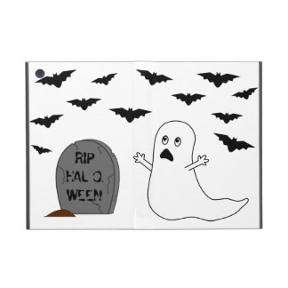 Tombstone, Ghost & Bats - Halloween iPad Mini Cover