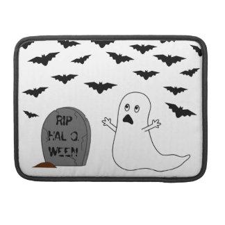 Tombstone, Ghost & Bats - Halloween MacBook Pro Sleeve