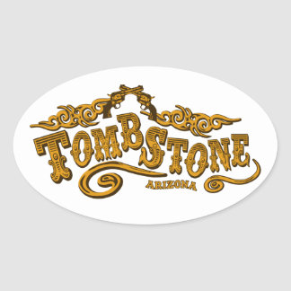 Tombstone Saloon Oval Sticker