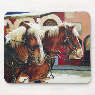 Tombstone Stagecoach Horses Mouse Pad