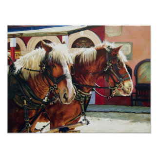 Tombstone Stagecoach Horses Poster