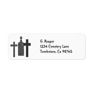 Tombstones return address labels