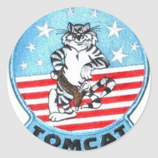TOMCAT F-14 -- THE FINEST THAT EVER FLEW CLASSIC ROUND STICKER