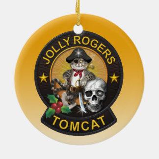Tomcat Jolly Roger Ceramic Ornament