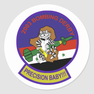 Tomcat Patch Classic Round Sticker