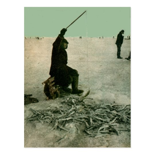 Tomcod Fishers out on Bering sea Postcard