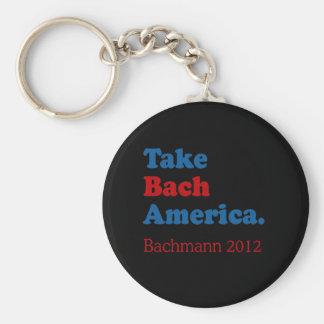 Tome a Bach América con Bach Llavero Redondo Tipo Pin