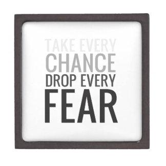 Tome a cada descenso de la ocasión cada miedo caja de recuerdo de calidad