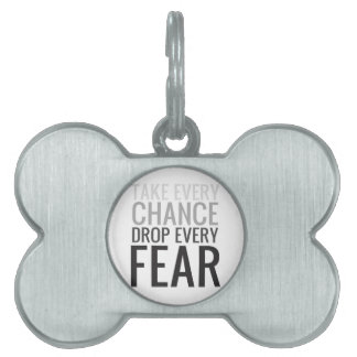 Tome a cada descenso de la ocasión cada miedo placas mascota