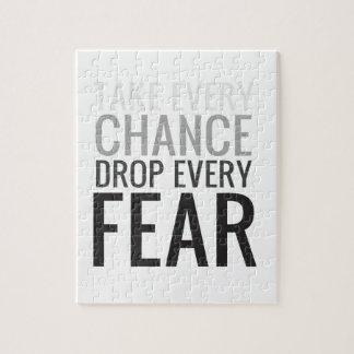 Tome a cada descenso de la ocasión cada miedo puzzles