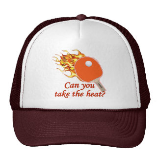 Tome a calor el ping-pong llameante gorros
