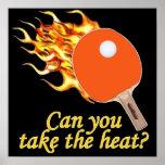 Tome a calor el ping-pong llameante poster