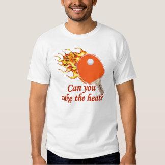 Tome a calor el ping-pong llameante remera