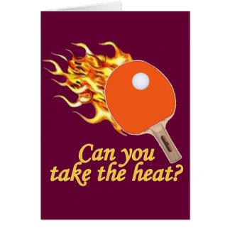 Tome a calor el ping-pong llameante tarjeta pequeña