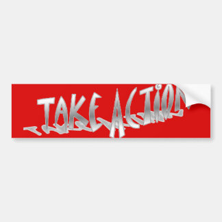 Tome a la pegatina para el parachoques de la acció etiqueta de parachoque