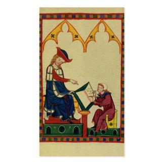 Tome a letra la secretaria medieval tarjetas de visita