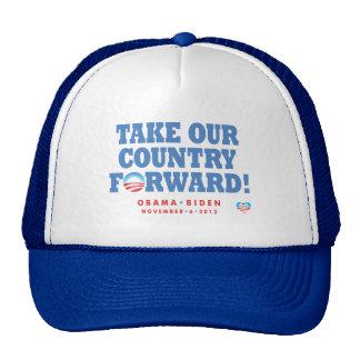 Tome a nuestro país el gorra delantero