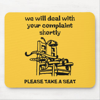 Tome a Seat el humor divertido de Mousepad Alfombrilla De Raton