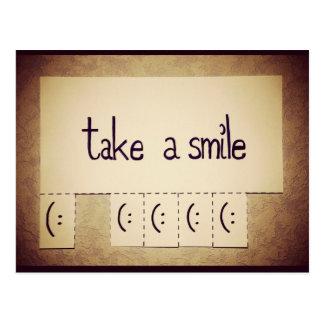 Tome a sonrisa la postal inspirada