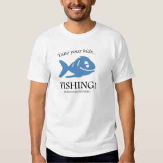 ¡Tome a sus niños la pesca! Playeras