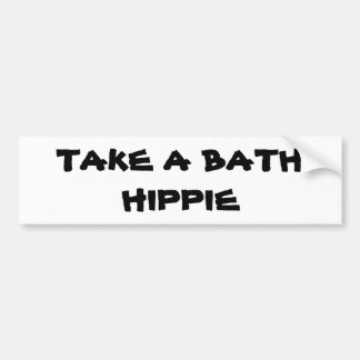 tome a un hIPPIE del baño Pegatina Para Auto