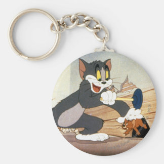 Tome And Jerry Plunger Basic Round Button Keychain