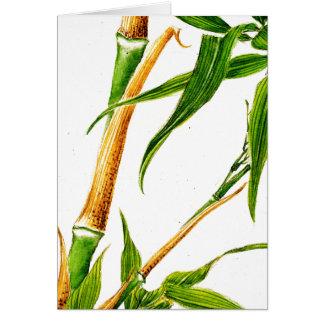 Tome el bambú 1870 tarjeta de felicitación