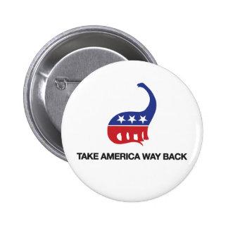 Tome el botón de la parte posterior de la manera d