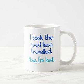 Tomé el camino viajé menos taza básica blanca