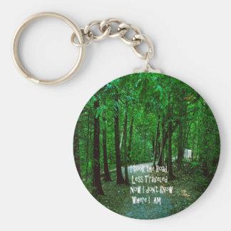 Tome el camino viajó menos llavero redondo tipo pin