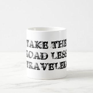 Tome el camino viajó menos taza