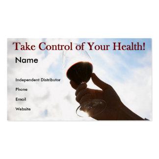 Tome el control de su salud - tarjeta de visita
