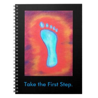 Tome el cuaderno del primer paso