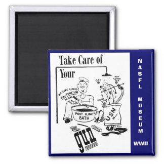 Tome el cuidado de su arma imán para frigorífico