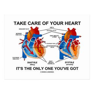Tome el cuidado de su corazón que es solamente uno postales