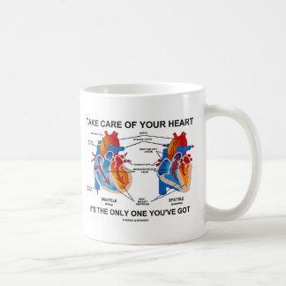 Tome el cuidado de su corazón que es solamente uno taza