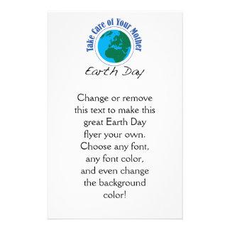 """Tome el cuidado de su día de madre tierra folleto 5.5"""" x 8.5"""""""