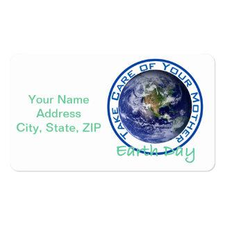 Tome el cuidado de su día de madre tierra tarjetas de visita