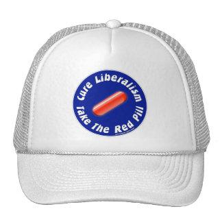 Tome el gorra rojo de la píldora