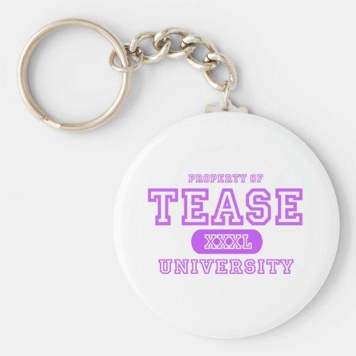Tome el pelo la universidad llavero personalizado